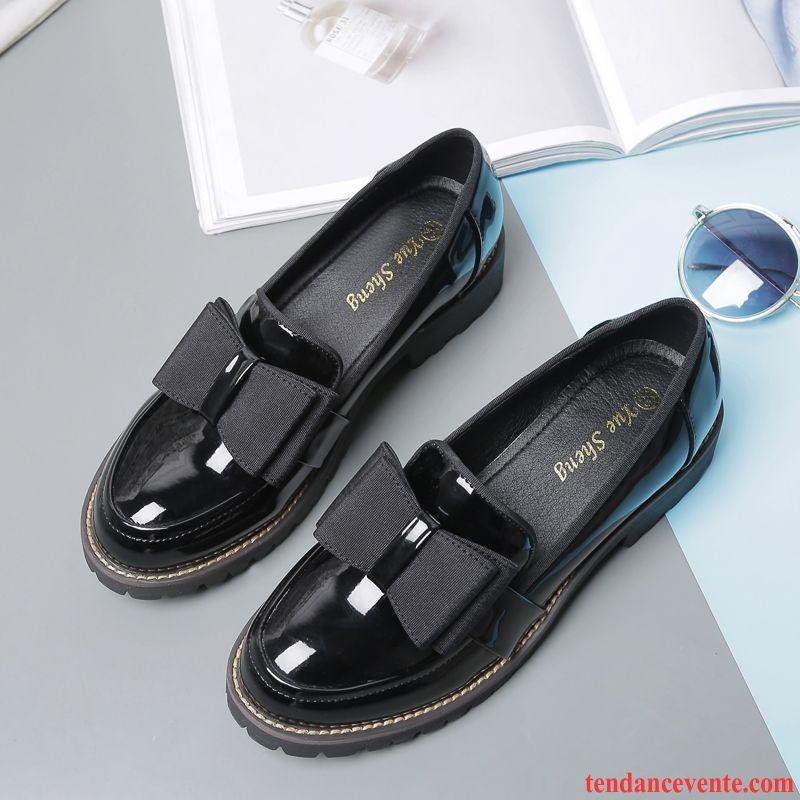 Chaussures Femmes Marques Étudiant Plates Tous Les Assortis Femme Printemps  Angleterre L automne Hiver 404d2cdfca41