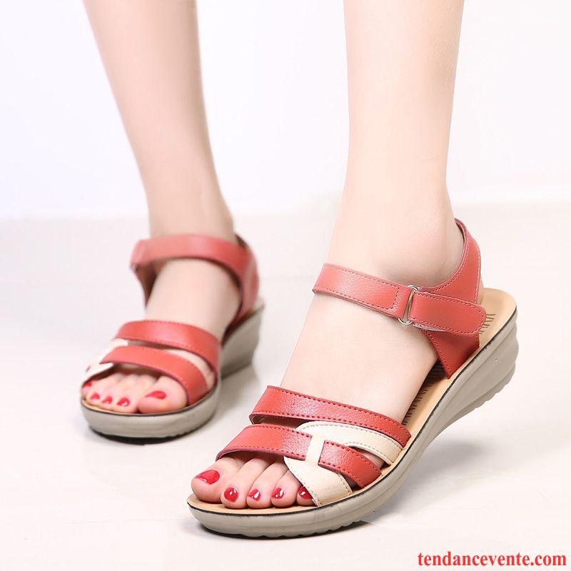 Sandales Chaussures Antidérapant Talons Été Femme Tendance Compensés 6yIgf7Ybv
