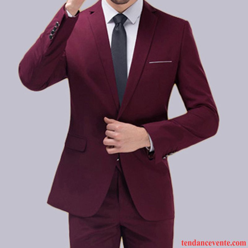 costume mariage grande taille homme professionnel ensemble blazer slim homme mariage tomate. Black Bedroom Furniture Sets. Home Design Ideas