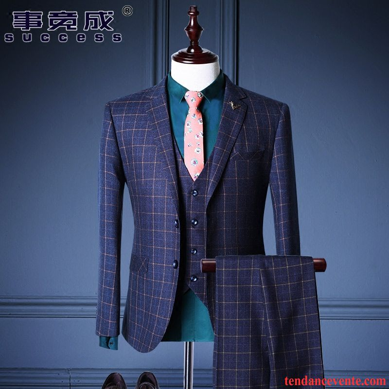 costume mariage homme grande taille slim robe mari e britanique costume carreaux homme ensemble. Black Bedroom Furniture Sets. Home Design Ideas