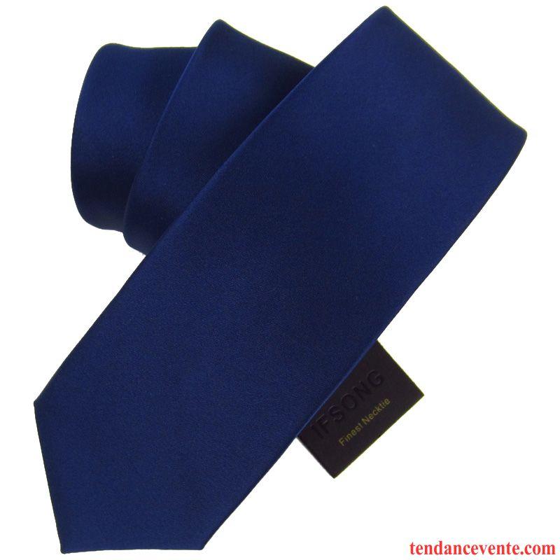 Cravate Homme Étroit Vent De L'université Loisir Vêtements De Cérémonie Meilleur Homme 7cm Bleu Noir Rouge