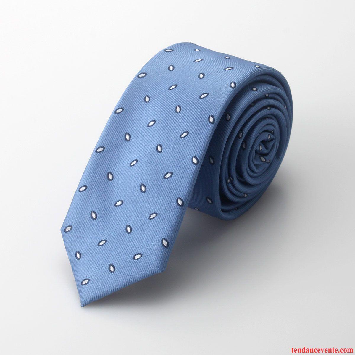 Cravate Homme Marier Entreprise Étudiant Vêtements De Cérémonie Petit Loisir Bleu