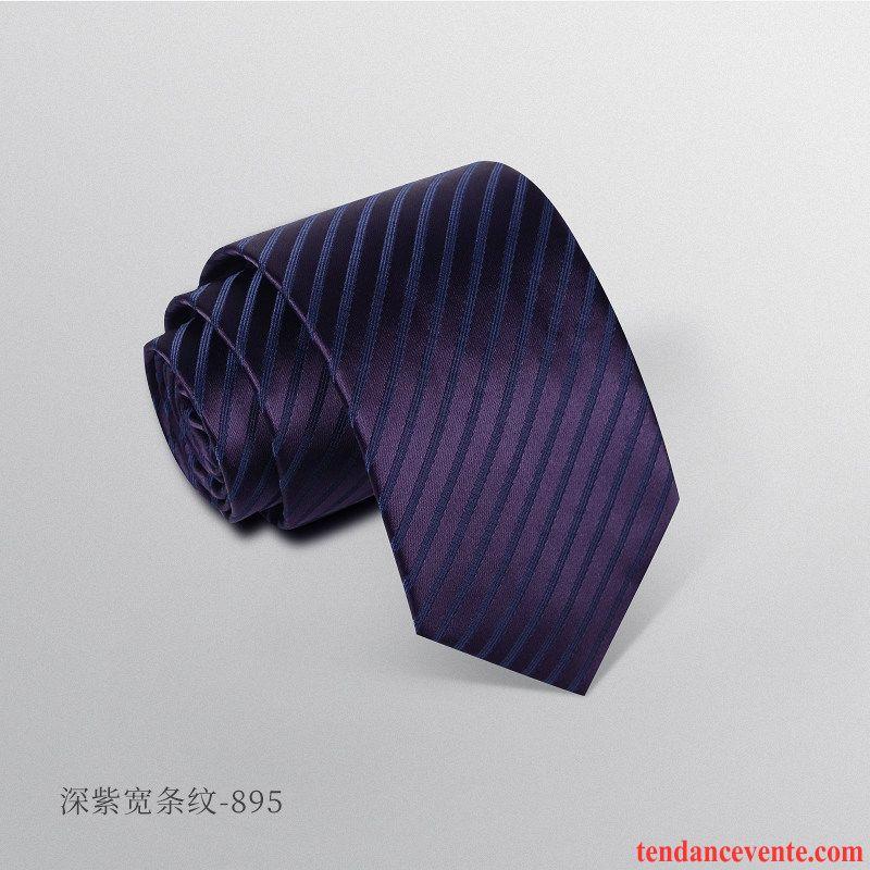 Cravate Homme Vêtements De Cérémonie Carrière Entreprise Le Marié Étudiant Marier Pure Bleu Noir Violet
