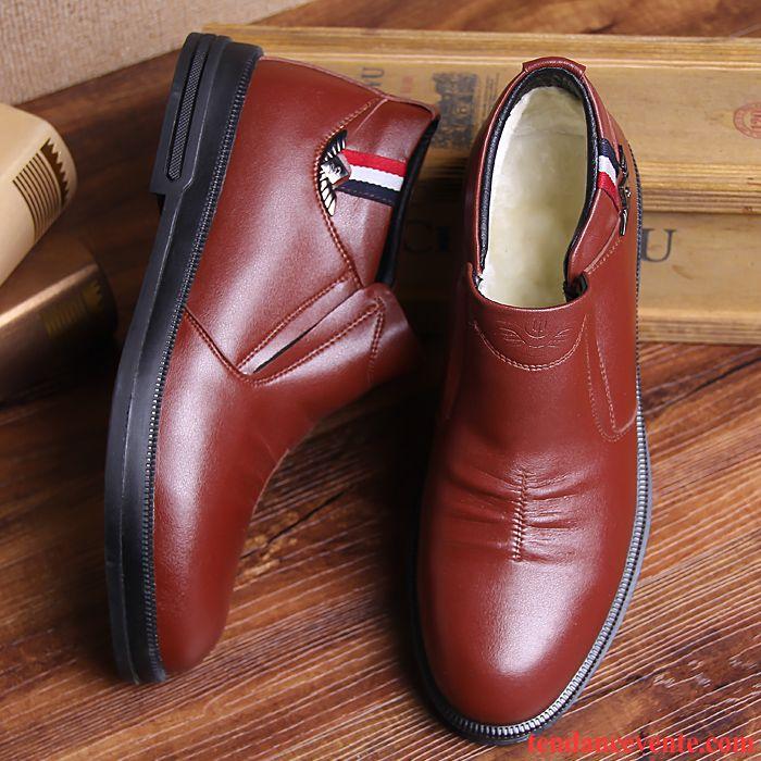 nouveaux styles 83173 1af62 Derbies A Talon Pas Cher Renforcé Chauds Chaussures En Coton ...