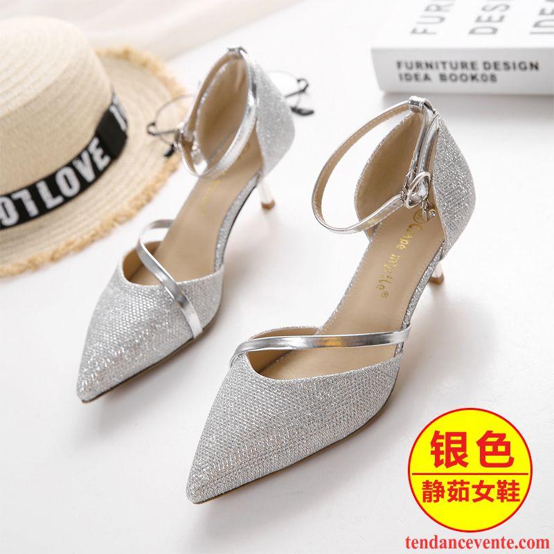 Chaussures argentées Fashion femme Qr5VFeNGIi