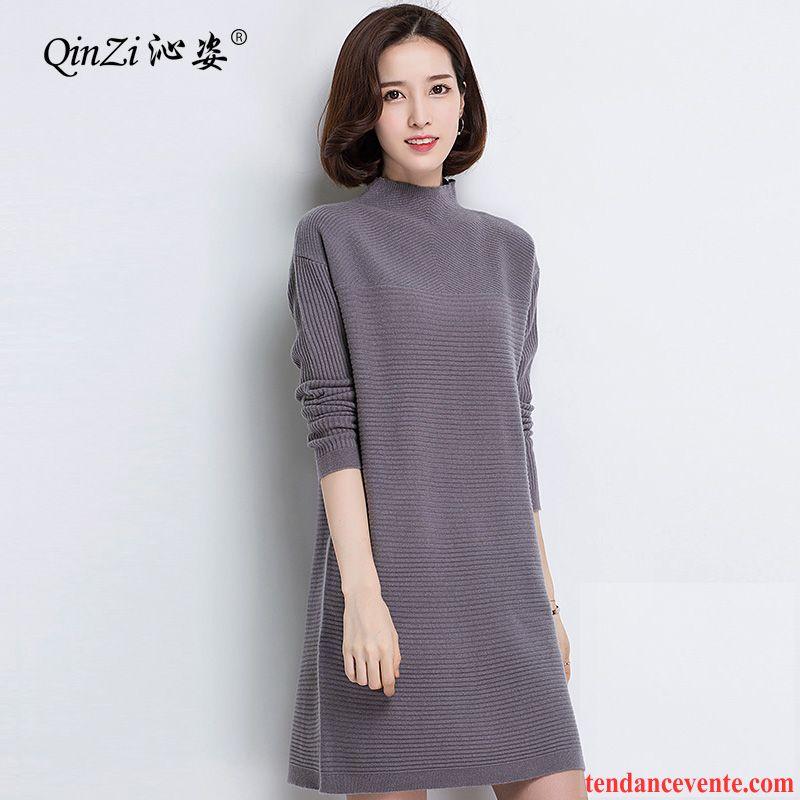 3dfedd13a15c Gilet Femme Laine Pull Pullovers Chauds Pur Haut Court Femme L automne En  Maille Hiver Chemise En Bas Longue Rouge ...