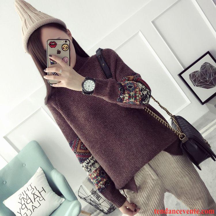 Gros Pull Col Roulé Femme Vêtements D'hiver Haut Court Femme Chemise En Bas Pull Tendance Tricots En Maille Longues L'automne Pullovers Saphir