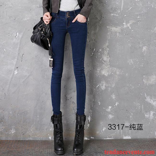 Jean Bootcut Femme Grande Taille Pantalons Crayon Noir Forme Haute Cintrée  Maigre Hiver Femme Plus De ... 8806586ef89c