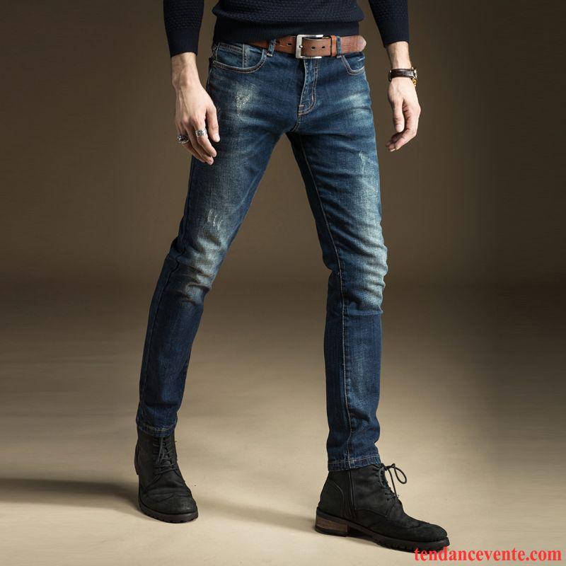 jean coupe skinny homme slim jambe droite noir pantalon l 39 automne jeunesse homme tendance. Black Bedroom Furniture Sets. Home Design Ideas