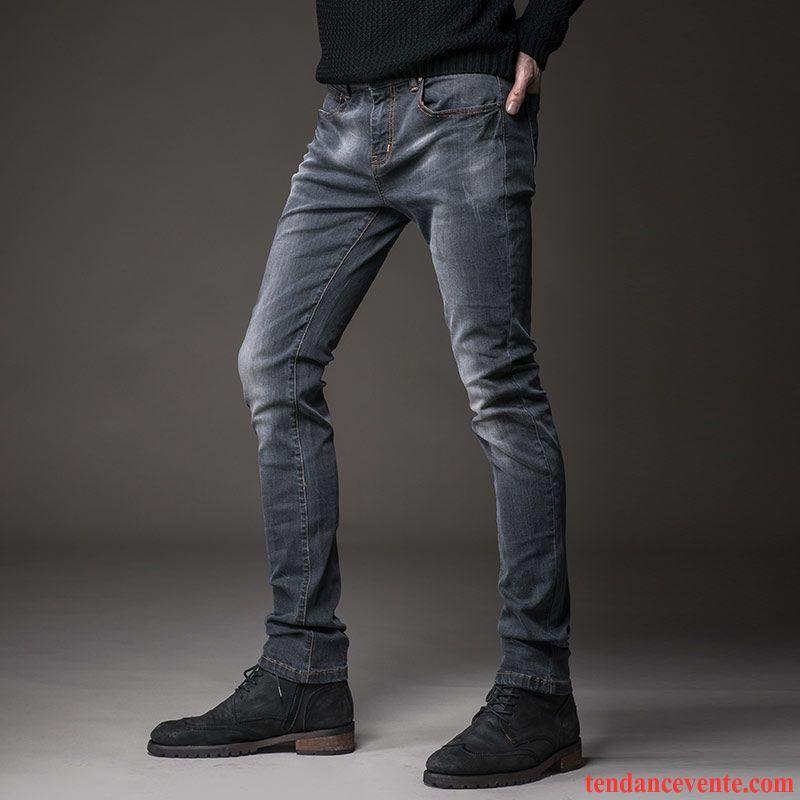 jean noir homme pas cher maigre tendance jeunesse l 39 automne extensible jambe droite slim hiver. Black Bedroom Furniture Sets. Home Design Ideas