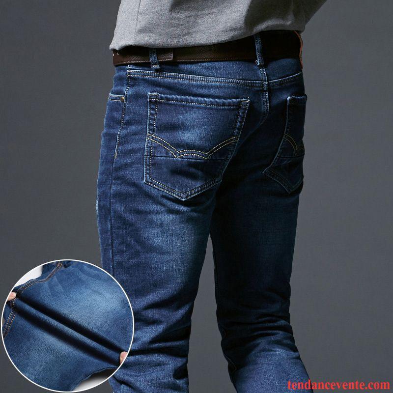 jean taille haute homme pas cher de travail l 39 automne extensible homme slim hiver pantalon. Black Bedroom Furniture Sets. Home Design Ideas