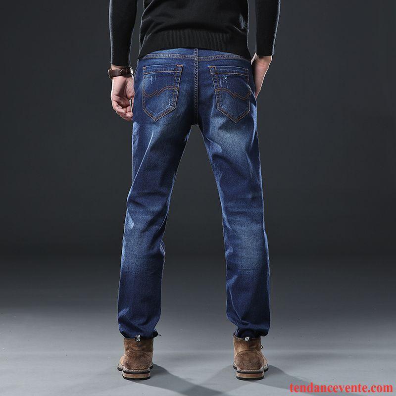 Jeans Homme Jambe Droite Taillissime Graisse Tendance L'automne Ultra Bleu Gris