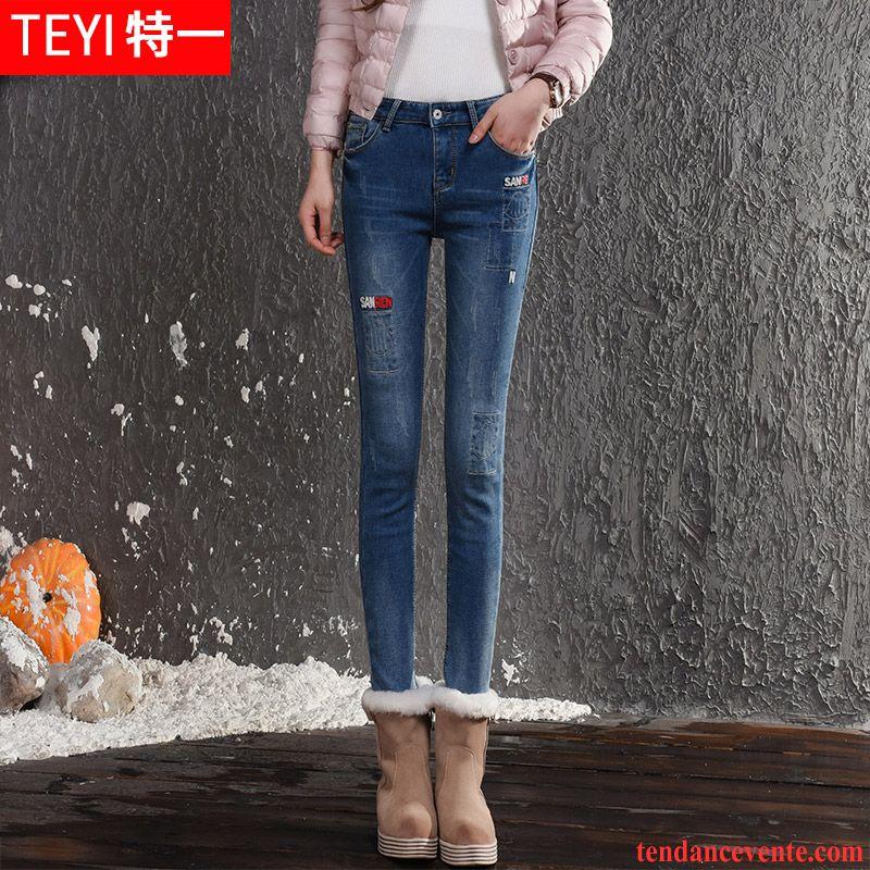 Jeans taille haute femme petite