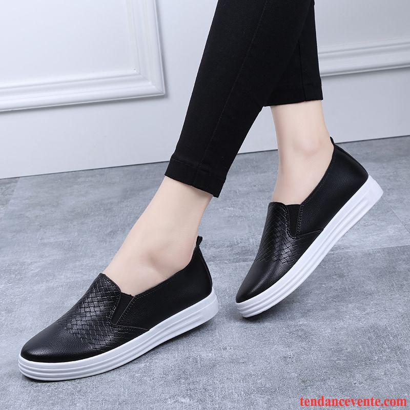 767308ce33e Les Chaussures Mocassins Tendance Femme Décontractée Toile Slip-on  Printemps Mode