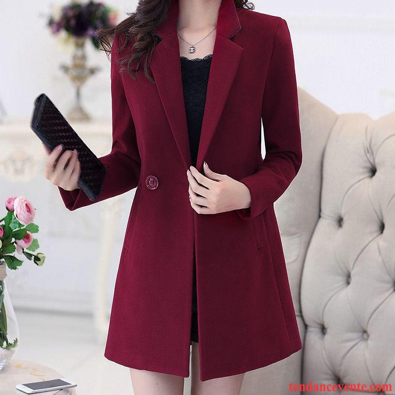 monteau pour femme slim renforc femme de laine l 39 automne nervur es hiver manteau longue pardessus. Black Bedroom Furniture Sets. Home Design Ideas