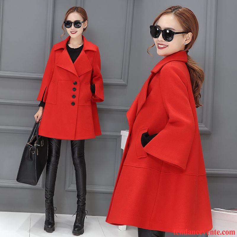 manteau femme fourré vêtements d'hiver dame longue de laine femme
