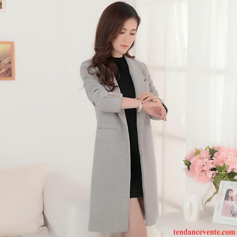 manteau femme hiver capuche longue slim la laine femme pardessus hiver manteau mince l 39 automne. Black Bedroom Furniture Sets. Home Design Ideas