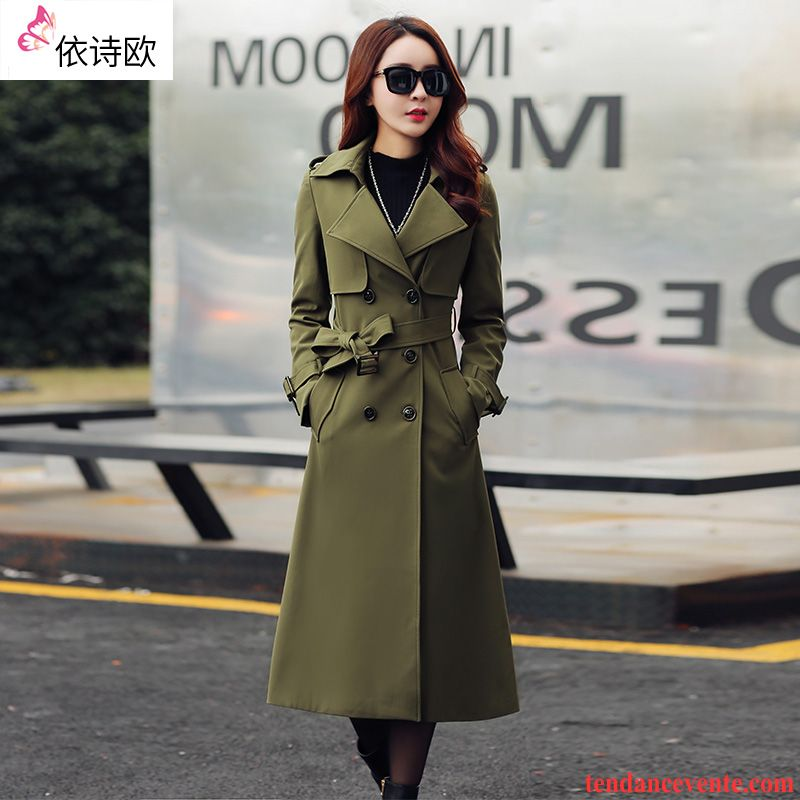 Manteau style trench femme