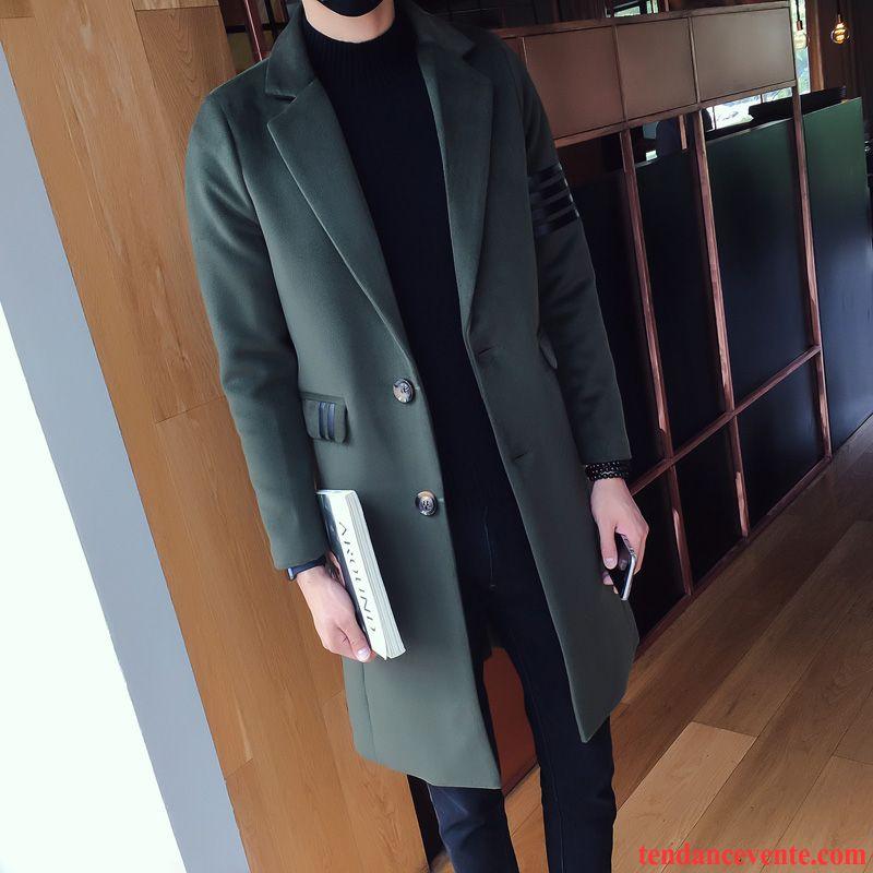 manteau hiver pour homme tendance coupe vent britanique slim homme longue hiver jeunesse. Black Bedroom Furniture Sets. Home Design Ideas