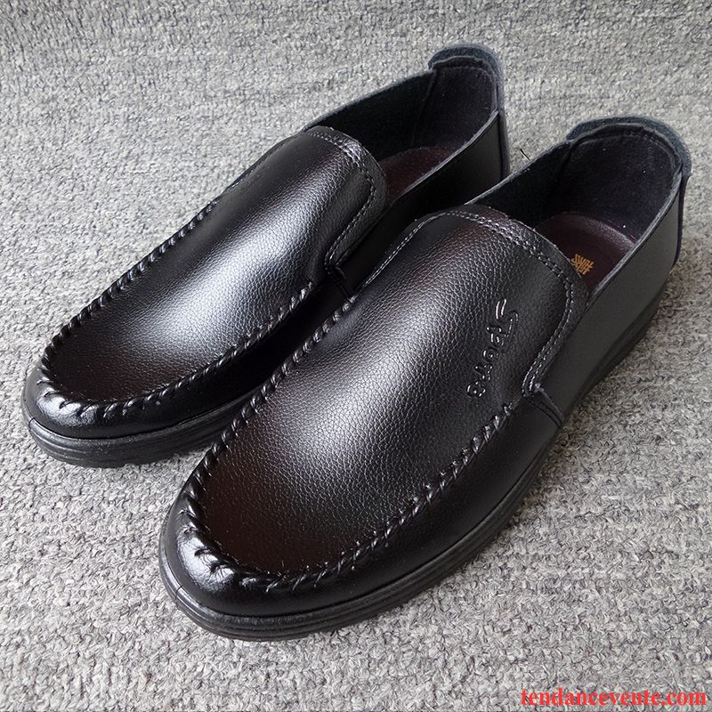 Mocassin Luxe Homme Angleterre Respirant Homme Décontractée Pu Simple Offre Spéciale Or