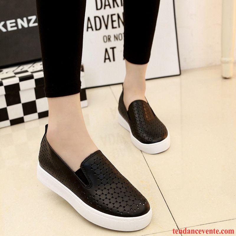 Mocassin Mode Femme Tendance Blanc Paresseux Slip-on Derbies Décontractée  Chaussures De Skate Printemps Femme Plates ... 0847dc4d9c2b
