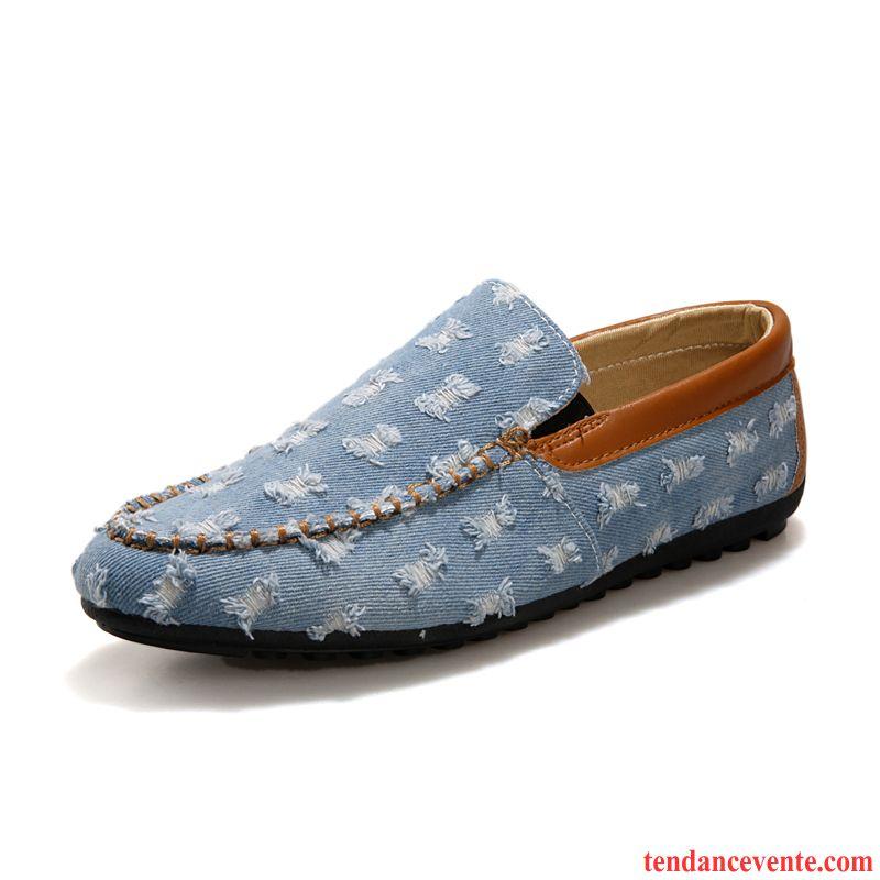 détaillant en ligne 83060 5fe21 Mocassin Petit Talon Chaussures De Conduite Toile Chaussures ...