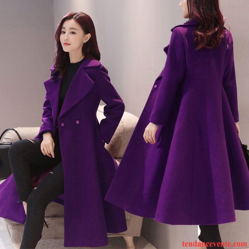 manteau femme noir cintr pardessus femme baggy hiver manteau costume longue l 39 automne mince de. Black Bedroom Furniture Sets. Home Design Ideas