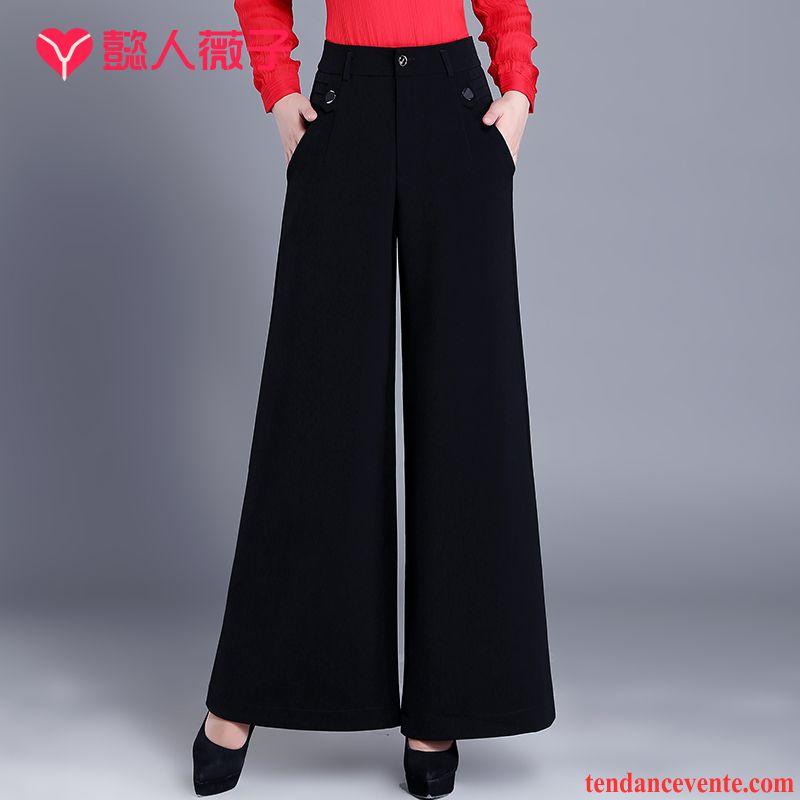 Pantacourt Taille Haute Femme L'automne Forme Haute Cintrée Noir Gros Femme Pantalon Hiver Dame Mince