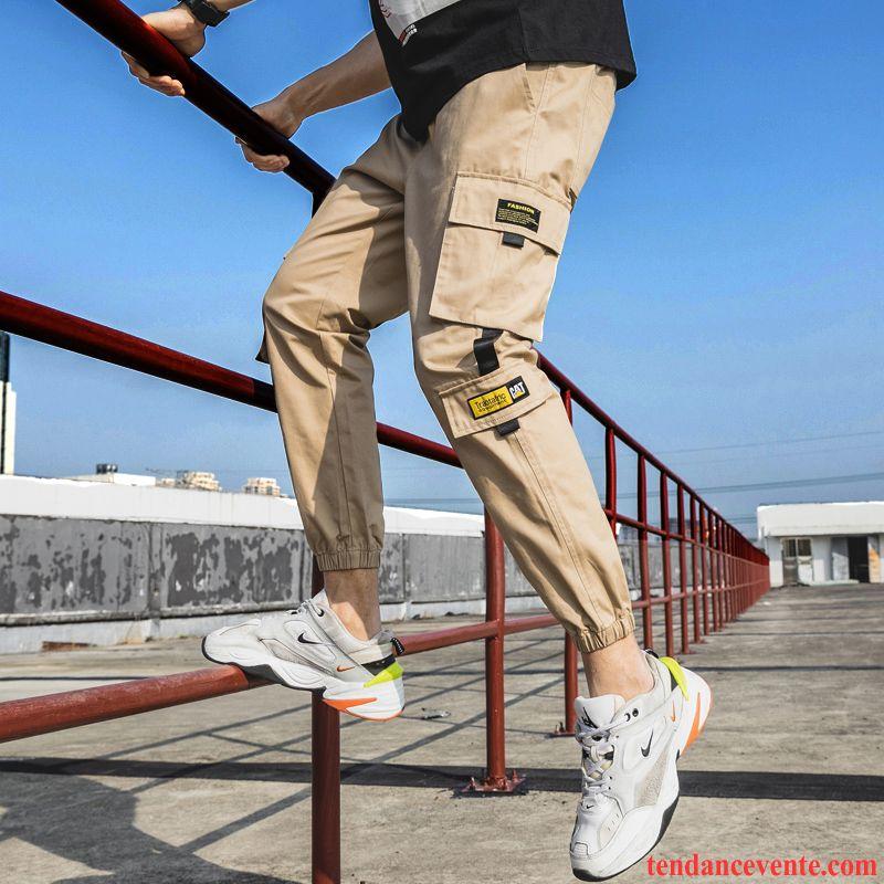 Pantalon Cargo Homme Camouflage Encre Tendance Maigre Neuvième Pantalon Bureau