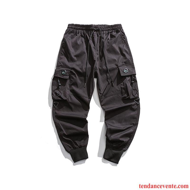 Pantalon Cargo Homme Printemps Bureau Slim Tendance Harlan Ultra Noir
