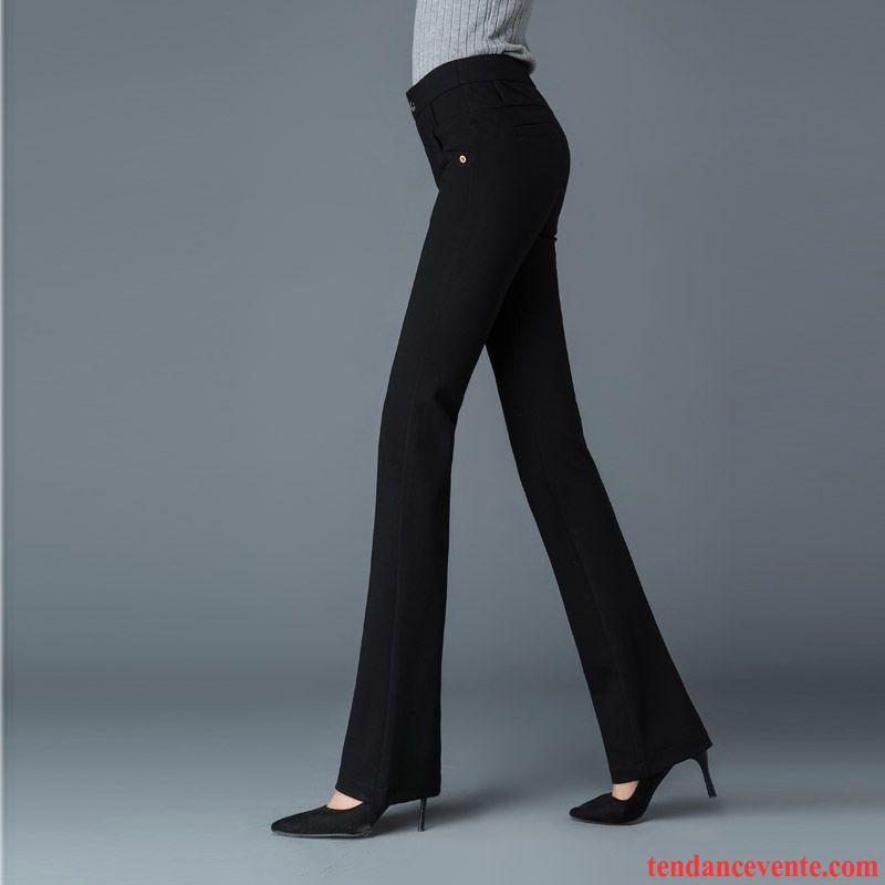 Pantalon Elasthane Femme Forme Haute Cintrée Plus De Velours Mince Pantalon Extensible Hiver Slim Renforcé Femme Légèrement Jean Évasé Décontractée Taillissime Brun Vente