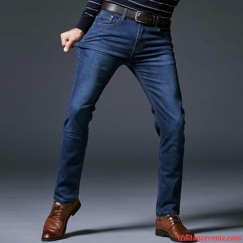 pantalon en jean homme extensible slim jambe droite l. Black Bedroom Furniture Sets. Home Design Ideas