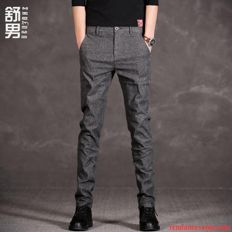 pantalon elastique homme broderie extensible noir pantalon. Black Bedroom Furniture Sets. Home Design Ideas