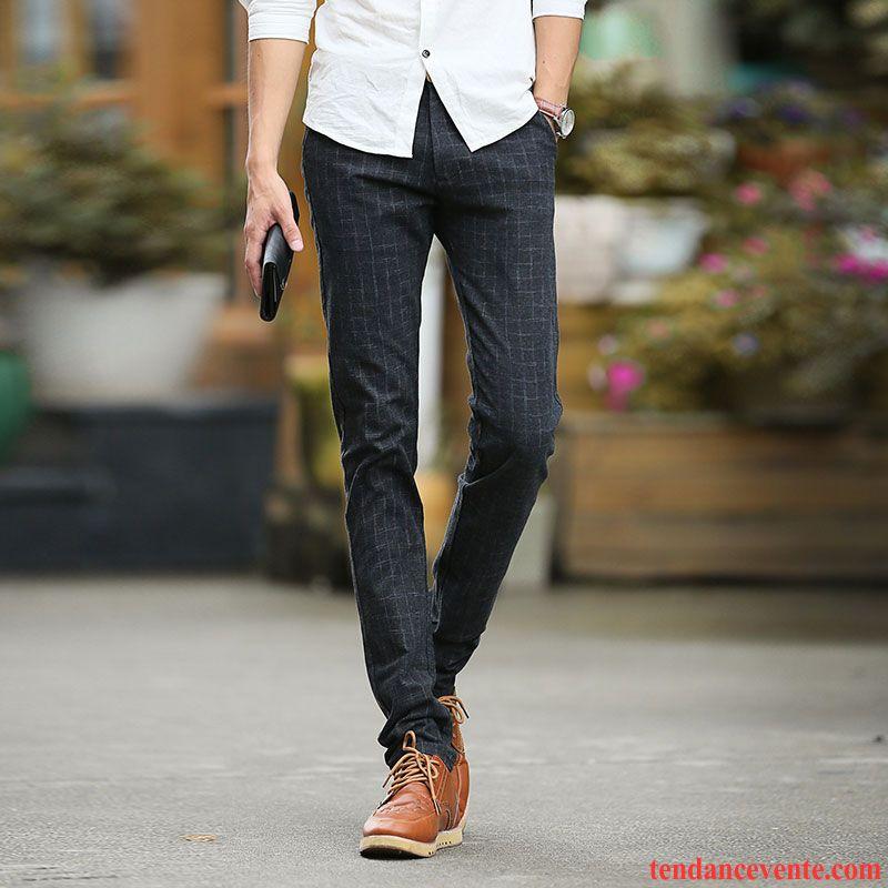 pantalon homme ceinture lastique homme pantalon tendance noir l 39 automne slim hiver jeunesse. Black Bedroom Furniture Sets. Home Design Ideas