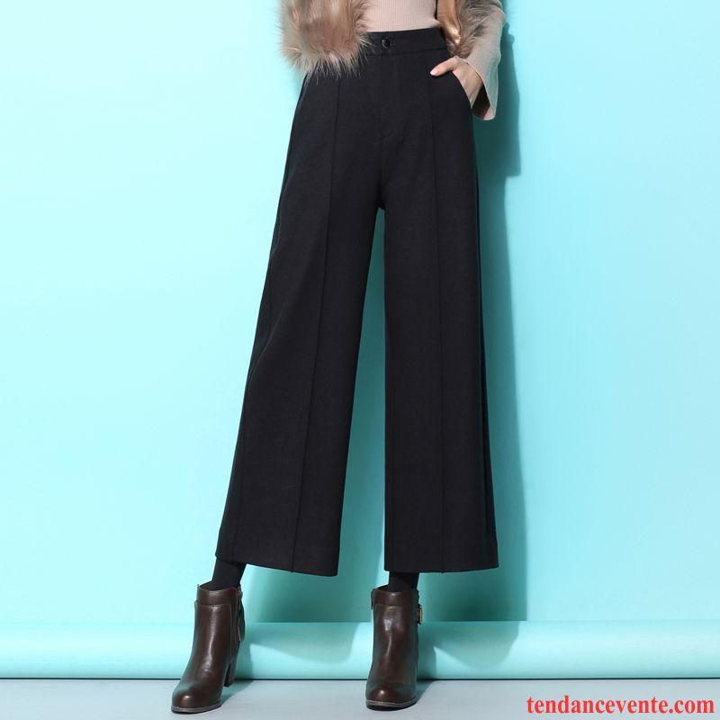 da4093ad6bc Pantalon Pas Cher Pour Femme De Laine Hiver Noir Décontractée Femme  Pantalon Baggy L automne Neuvième ...