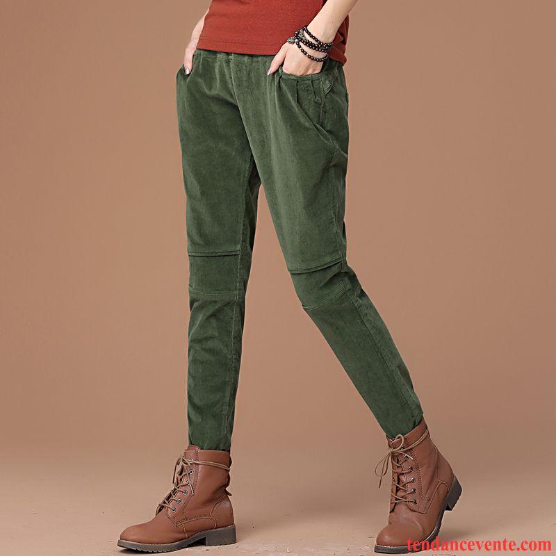 990515fd73e Pantalon Velours Noir Tendance Femme Pantalon Renforcé Décontractée  L automne Baggy Hiver Élastique Harlan Pas Cher