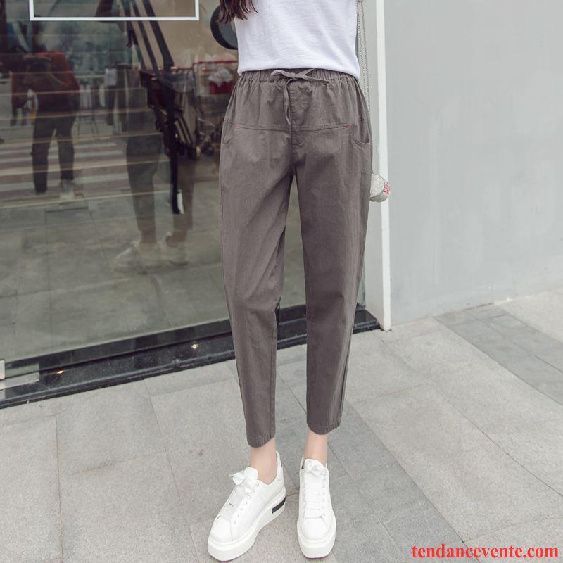 Pantalons Femme Étudiant Harlan L'automne Printemps Bureau Tous Les Assortis Gris