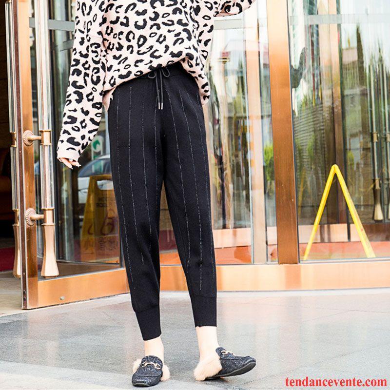 Pantalons Femme En Maille Renforcé Décontractée Harlan Sport Baggy Blanc Noir Rouge