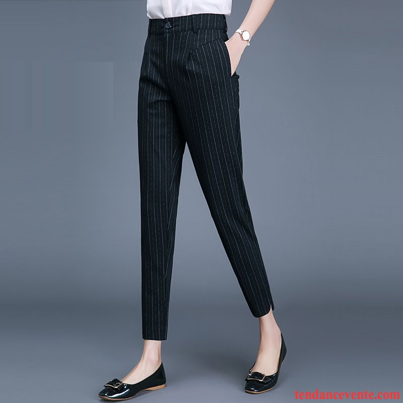 Pantalons Femme Harlan Plus De Velours Décontractée Mince Hiver Baggy Noir