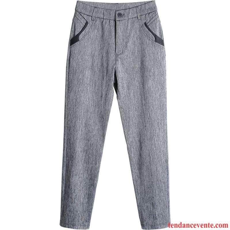 Pantalons Femme L'automne Tous Les Assortis Printemps Mince Légère Extensible Gris