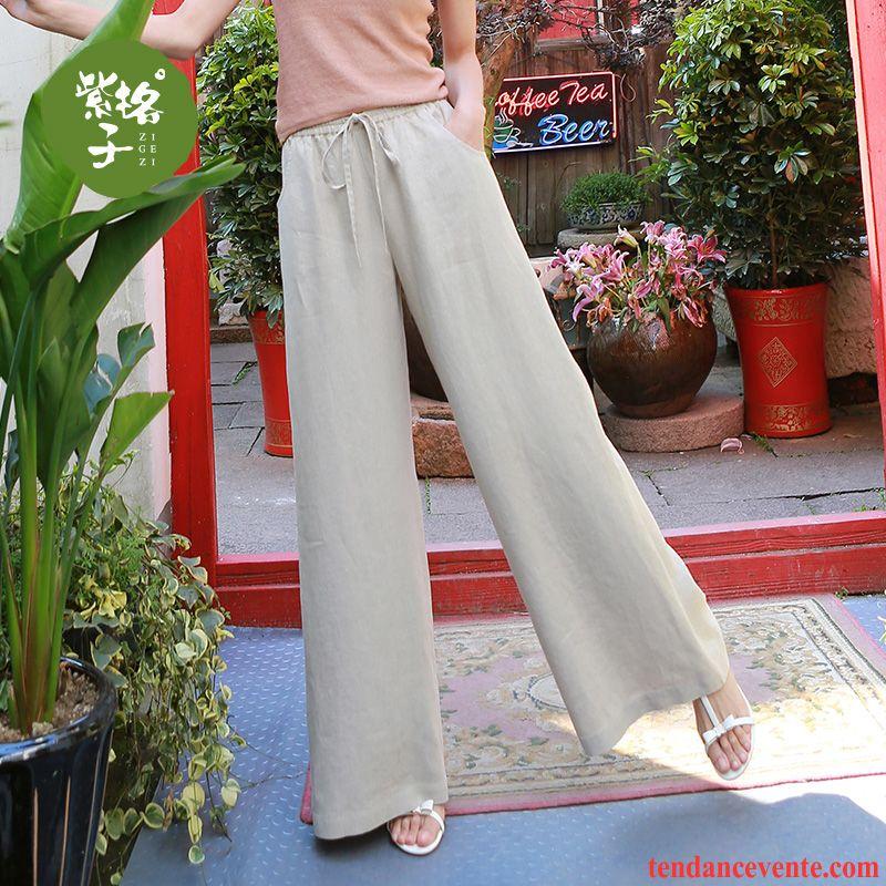 Pantalons Femme Printemps Baggy Été Taillissime Mince Blanc