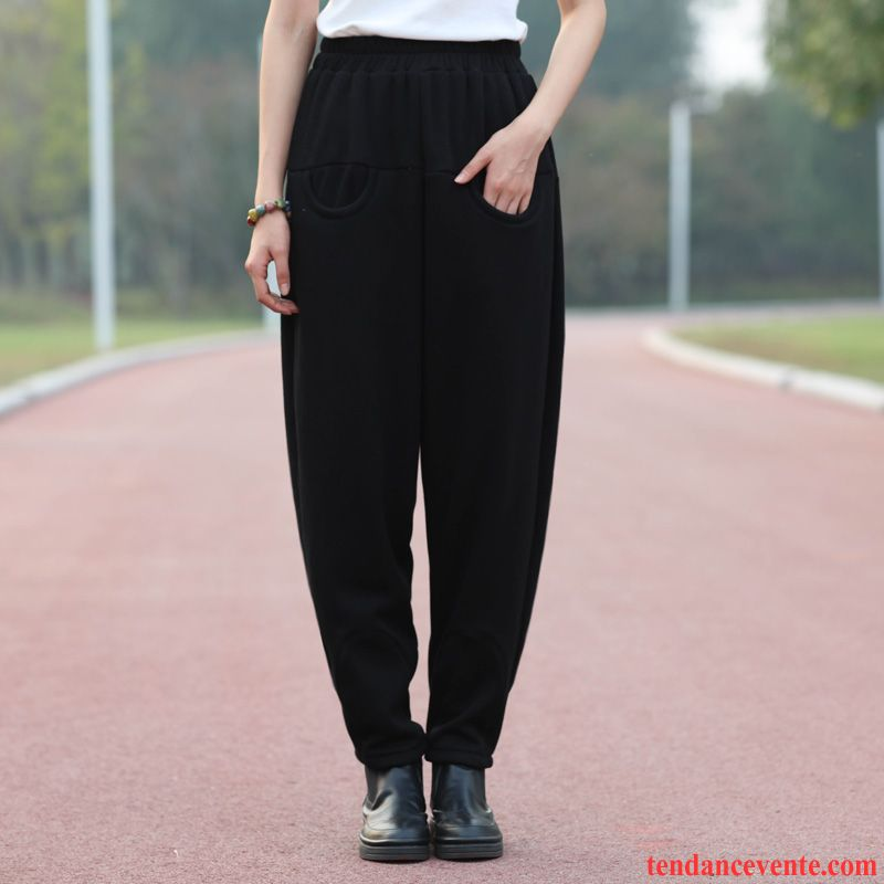 belle couleur qualité chercher Pantalons Taille Haute Pour Femme Tendance Baggy Hiver ...