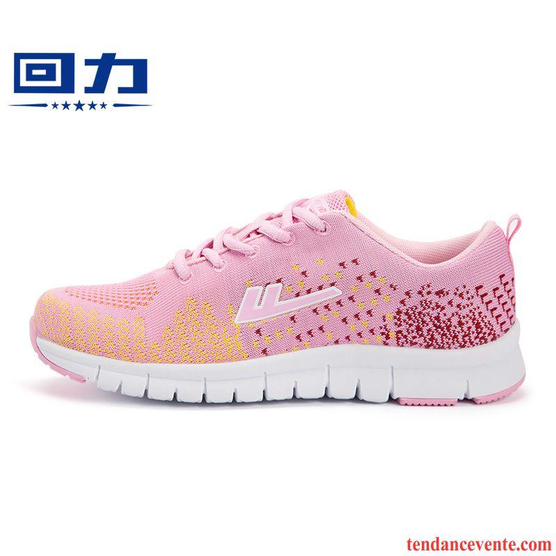 Promo Chaussure Running Femme Antidérapant Porter Le Jogging Décontractée L'automne Femme Printemps Sport Chaussures De Course Respirant