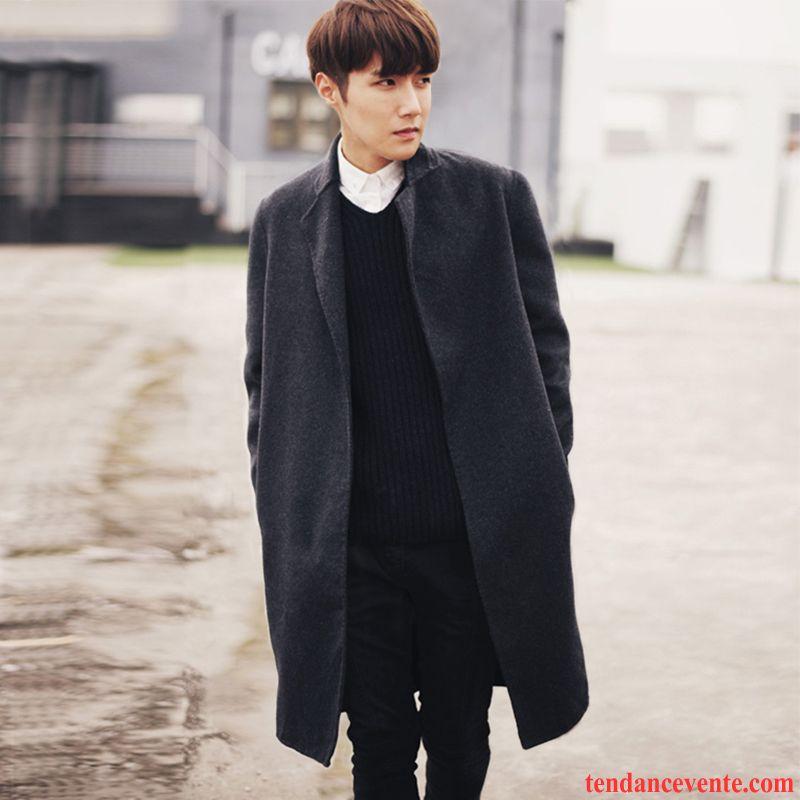 manteau cuir hiver homme coupe vent longue costume pardessus tendance ultra slim homme manteau. Black Bedroom Furniture Sets. Home Design Ideas