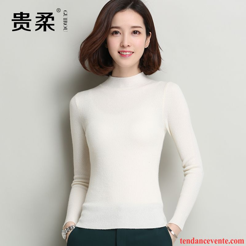 limited guantity buying cheap new images of Pull Blanc Col V Femme Femme Pullovers La Laine Slim Tricots ...