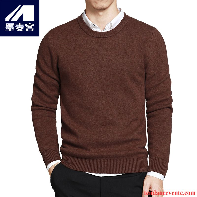 Pull Col Montant Zippé Homme Homme Renforcé Hiver Tendance Pull Tricots En Maille Pullovers Pur Col Rond Lilas