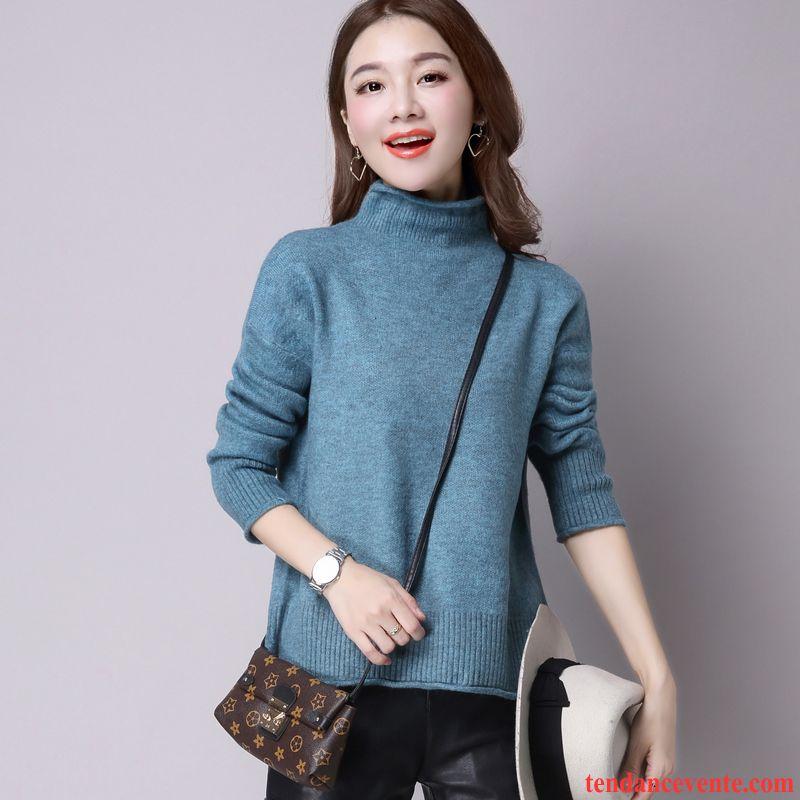 pull color femme tricots en maille l 39 automne pullovers. Black Bedroom Furniture Sets. Home Design Ideas