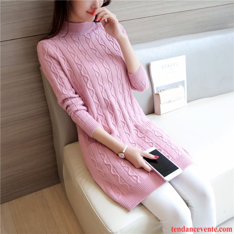 Pull Femme Original Pas Cher Femme Pull Tricots En Maille Renforcé Slim Haut Court Pullovers Longue Vêtements D'hiver Pas Cher
