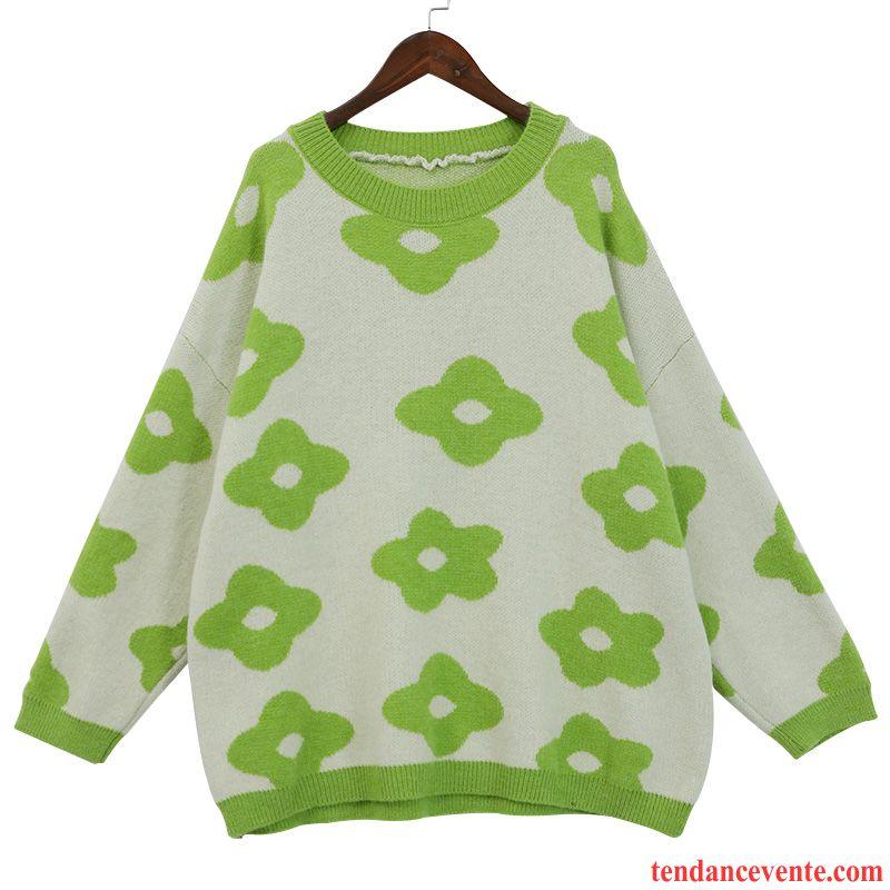 Pulls Gilets Femme Outwear Printemps Tricots En Maille L'automne Pardessus Une Veste Vert