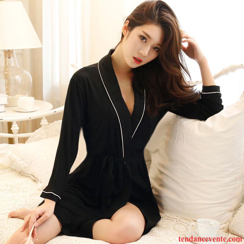 cfa7878f0002b Pyjamas Kaki Femme Slim Longues Légère L'automne Décontractée Femme Sexy  Dame Printemps Été